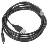 Кабель DEXP Ux2MiuBSI200 2xUSB - mini USB черный