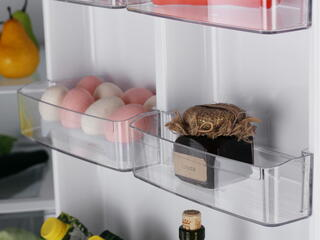 Холодильник с морозильником LG GA-B409SAQL серебристый