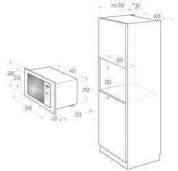 Встраиваемая микроволновая печь Gorenje BM300X серебристый