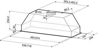 Вытяжка полновстраиваемая KRONAsteel Monika 600 inox серебристый