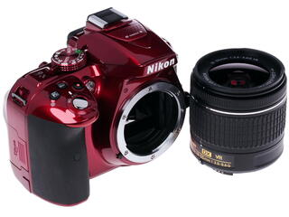 Зеркальная камера Nikon D5300 Kit 18-55mm VR AF-P красный