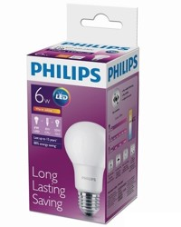 Лампа светодиодная Philips LEDBulb 6-50W E27 3000K 230VA60/PF