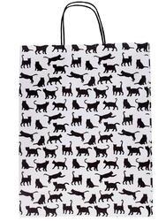 Пакет подарочный Черные коты