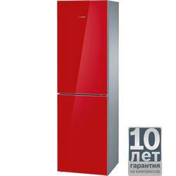 Холодильник с морозильником BOSCH KGN39LR10R красный