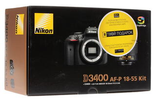 Зеркальная камера Nikon  D3400 Kit 18-55mm AF-P II черный