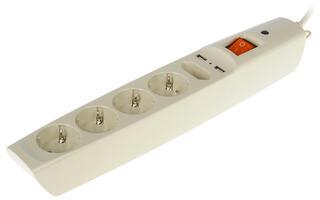 Сетевой фильтр ЭРА SFU-5es-2m-I бежевый