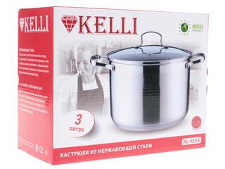Кастрюля Kelli KL-4234 серебристый