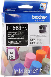 Картридж струйный Brother LC-563BK