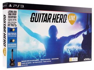 Гитара беспроводная Guitar Hero + Игра для PS3 Guitar Hero Live
