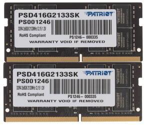 Оперативная память SODIMM Patriot Signature [PSD416G2133SK] 16 ГБ
