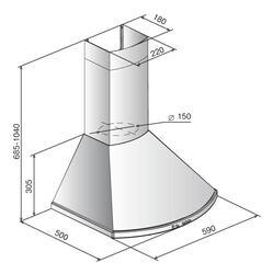 Вытяжка каминная ELIKOR Сигма 60П-650-К3Г черный