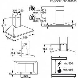 Вытяжка каминная Electrolux EFF60560OX серебристый
