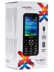 Сотовый телефон Texet ТМ-327 черный