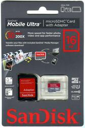 Карта памяти SanDisk ULTRA SDSDQUI-016G microSDHC 16 Гб