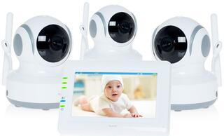 Видеоняня Ramili Baby RV900X3 белый