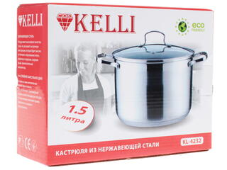 Кастрюля Kelli KL-4232 серебристый