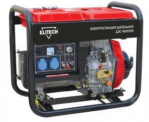 Дизельный электрогенератор Elitech ДЭС 4000ЕМ