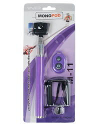 Монопод для селфи STICK фиолетовый