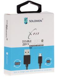 Кабель Solomon X-Fit USB - micro USB черный