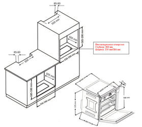 Газовый духовой шкаф Zigmund & Shtain BN 21.514 X