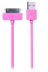 Кабель Remax Light  USB - 30-pin розовый