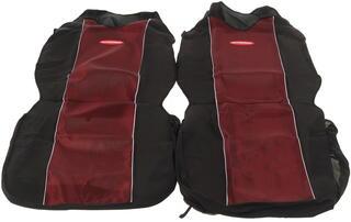 Чехлы на сиденье AUTOPROFI CARBON PLUS CRB-402Pf красный