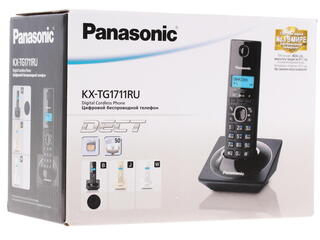 Телефон беспроводной (DECT) Panasonic KX-TG1711RUB
