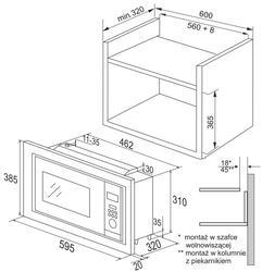 Встраиваемая микроволновая печь Hansa AMM20BIMH серебристый