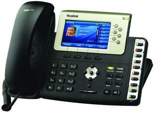 IP-телефон Yealink SIP-T38G черный, серебряный