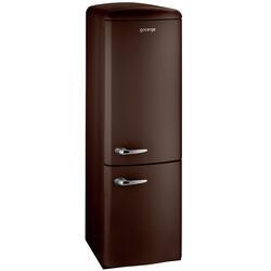 Холодильник с морозильником Gorenje RK60359OCH коричневый