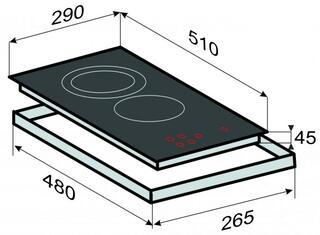Электрическая варочная поверхность Zigmund & Shtain CIS 030.30 BX