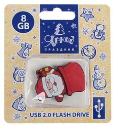 Память USB Flash Дедушка Мороз с подарком 8 Гб