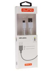 Кабель Qumo 20512 USB A - micro USB белый