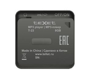 MP3 плеер teXet T-23 черный