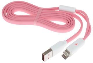 Кабель Remax Gemini 2 in 1 USB - micro USB розовый