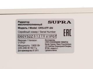 Масляный радиатор Supra ORS-07F-SN белый