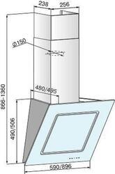 Вытяжка каминная Elikor Оникс ART-90П-1000-Е4Г черный