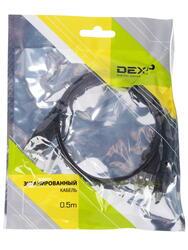 Кабель DEXP Ux2MiuBSI050 2xUSB - mini USB черный