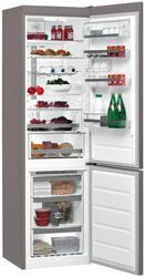 Холодильник с морозильником Whirlpool BSNF 9782 OX серебристый
