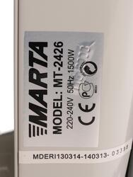 Масляный радиатор Marta MT-2426 серый