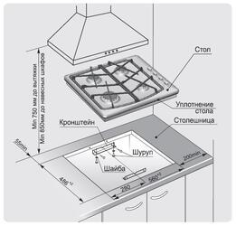 Газовая варочная поверхность Gefest СН 1211 К71