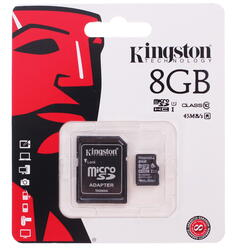 Карта памяти Kingston microSDHC 8 Гб