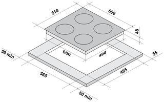 Электрическая варочная поверхность Fornelli PI 60 MAGNETE