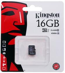 Карта памяти Kingston microSDHC 16 Гб