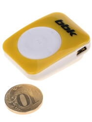 MP3 плеер BBK MP-100 желтый