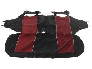 Авточехолы-майки AUTOPROFI CARBON PLUS Zippers CRB-902PZ красный