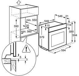 Электрический духовой шкаф Electrolux EOA95551AX