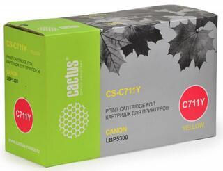 Картридж лазерный Cactus C711Y