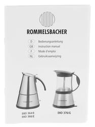 Кофеварка Rommelsbacher EKO 366/E Delux серебристый