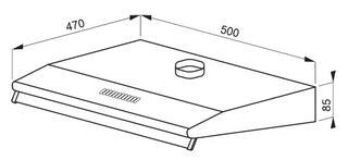 Вытяжка подвесная Hansa OSC 511 белый